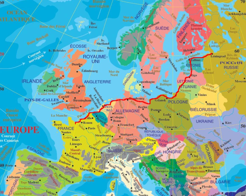 Carte de Saint-Ptersbourg - Htels et activits sur le plan de Saint